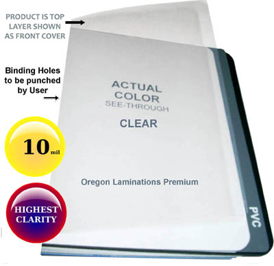 Letter 10 mil Clear Report Binding Covers